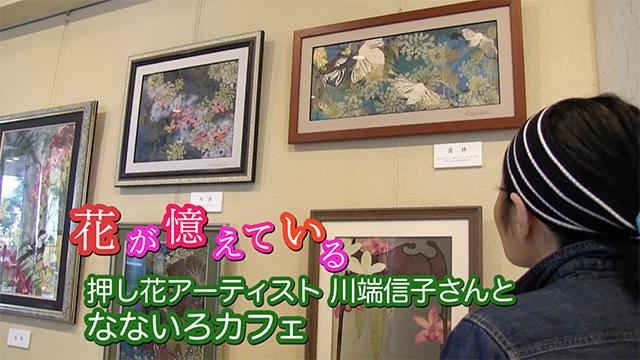 押し花アーティスト 川端信子さんとなないろカフェ(石川県七尾市)